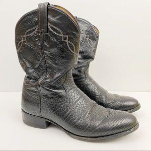 Tony Lama • Black Cowboy Boots